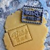 "Petit Beurre ""Baby is coming"" cookie cutter -  Pregnancy"