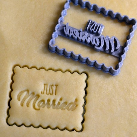 "Petit Beurre ""Just Married"" cookie cutter - Wedding"
