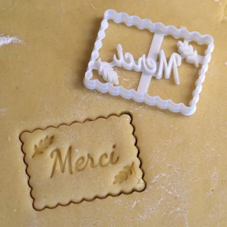 Emporte-pièce Petit Beurre Merci et Branche. Mariage