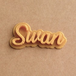 Custom Cookie Stamp Name - Personalized - Swan design