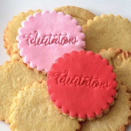 Félicitations Cookie Stamp