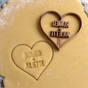 Custom Heart cookie cutter - Personalized with name