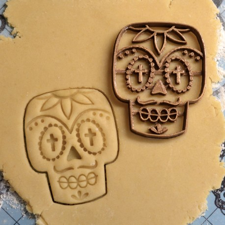 Mexican Skull cookie cutter - Dia de los muertos