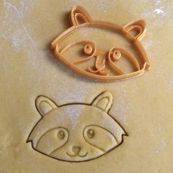 Raccoon cookie cutter