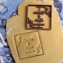 Square Custom cookie cutter with name - Personalized - Wedding cookie cutter