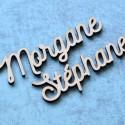 Marque-place personnalisé en bois - Modèle Morgane - Police 2
