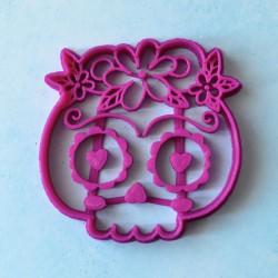 Mexican Girl Skull cookie cutter - Dia de los muertos
