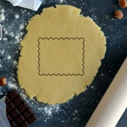 Petit Beurre cookie cutter - Blank