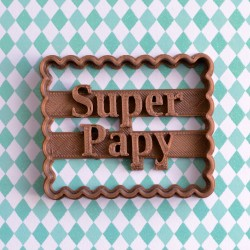 "Petit Beurre ""Super Papy"" cookie cutter"