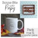 Pack Bonne fête Papy - Emporte-pièce et Mug Super Papy