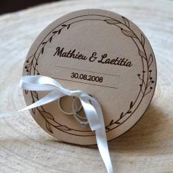 Custom Wood Ring Hold - with name Wedding