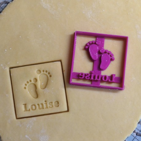 Custom Baby feet cookie cutter