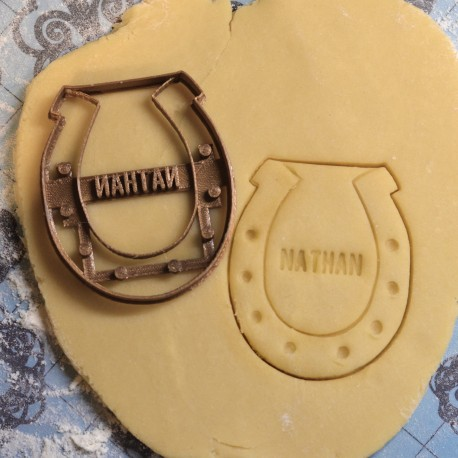 Custom Lucky Horseshoe cookie cutter - Personalized