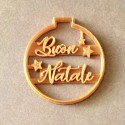 """Christmas ornament """"Buon Natale"""" cookie cutter"""