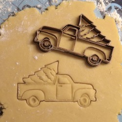 Christmas truck cookie cutter
