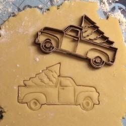 Christmas truck cookie cutter