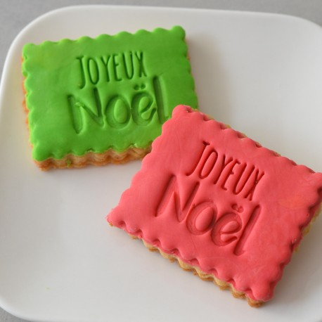 Tampon à biscuit Joyeux Noël
