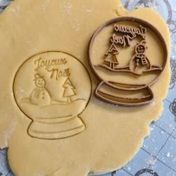 Snowglobe cookie cutter Joyeux noël