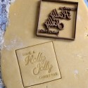 Holly Jolly Christmas cookie cutter