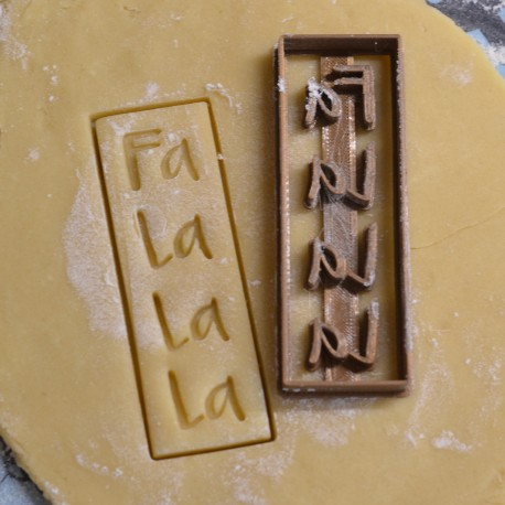 Falalala Christmas song cookie cutter