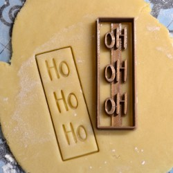 Ho ho ho Christmas cookie cutter