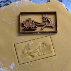 Santa Sleigh cookie cutter