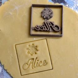 Custom Christmas Snowflake cookie cutter
