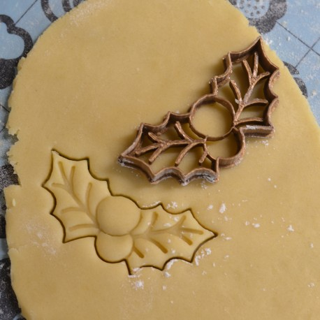 Christmas Holly cookie cutter