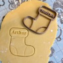 Christmas stocking cookie cutter custom