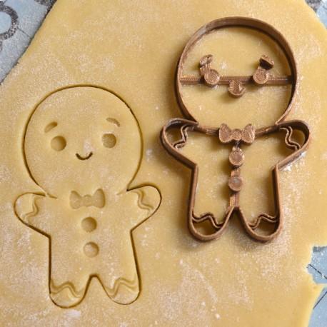 Emporte-pièce Bonhomme de pain d'épices - Gingerbread man V2