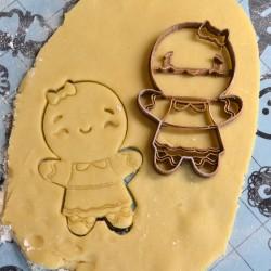 Gingerbread Man cookie cutter Girl