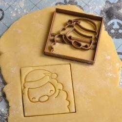 Santa cookie cutter - Square