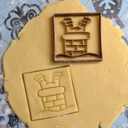 Christmas Chimney cookie cutter - Square