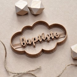 Custom Cloud cookie cutter with name
