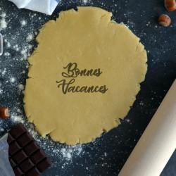 Bonnes Vacances Cookie Stamp