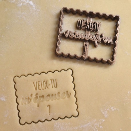 """Petit Beurre """"Marry Me ?"""" cookie cutter - Wedding"""