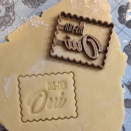 "Petit Beurre ""Marry Me ?"" cookie cutter - Wedding"