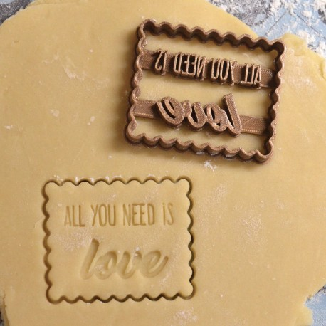 """Petit Beurre """"All you need is Love"""" cookie cutter - Wedding"""