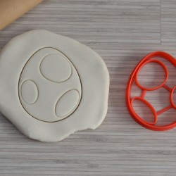 Yoshi Egg cookie cutter