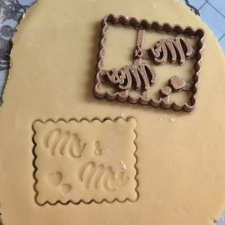 "Petit Beurre "" Mr & Mrs"" cookie cutter - Wedding"