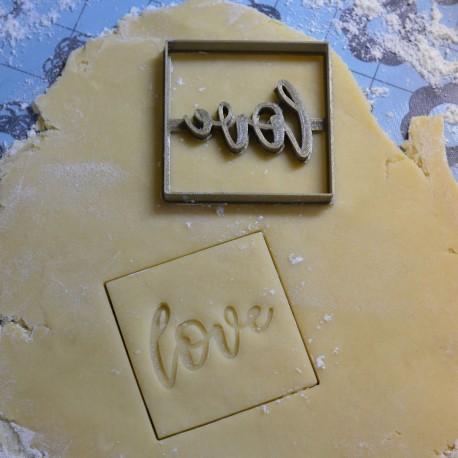 Love cookie cutter - Square