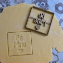 Be Mine cookie cutter - Square