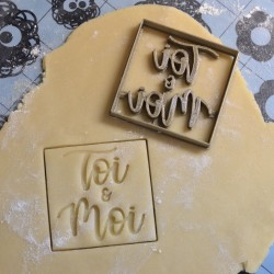 Toi & Moi cookie cutter - Square