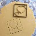 Heart cookie cutter - Square