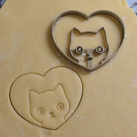 heart cat cookie cutter