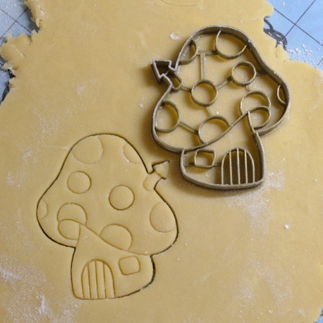mushroom house cookie cutter