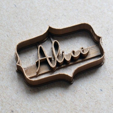 Custom Plaque cookie cutter with name