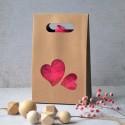 Boite Kraft pour biscuits et confiserie - Coeurs