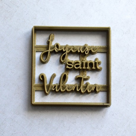 Joyeuse Saint Valentin cookie cutter - Square