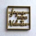 Joyeuse SANS Valentin cookie cutter - Square